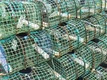 Une pile des paniers verts Images libres de droits