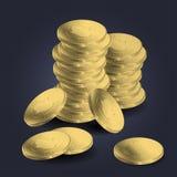 Une pile des pièces d'or Photos libres de droits