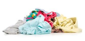 Une pile des vêtements photos stock