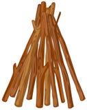 Une pile en bois illustration libre de droits