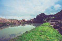 Une piscine naturelle de roche Photo libre de droits