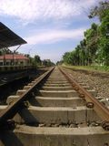 Une piste de train Photos stock