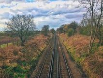 Une piste de train Photo stock