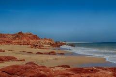 Une plage au cap Leveque images libres de droits