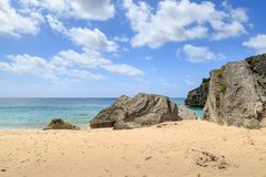 Une plage bermudienne image stock