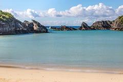 Une plage bermudienne photo stock