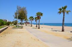 Une plage dans la côte Brava Photographie stock libre de droits