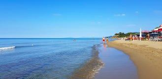 Une plage dans le della Pescaia, Toscane, Italie de Castiglione photo stock