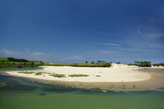 Une plage dans le nord de l'Espagne Photo libre de droits