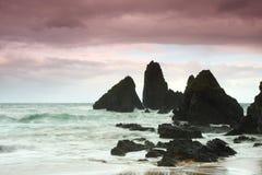 Une plage en Espagne du nord Photos libres de droits