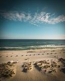 Une plage sur le Golfe de la côte de Mexique Photo stock