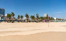 Une plage vide dans le Da Nang, Vietnam Images libres de droits