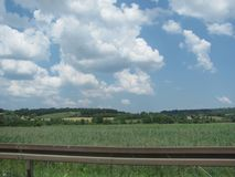 Une plaine serbe fertile Images stock