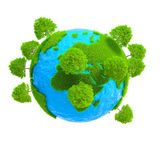 Une planète avec l'élevage d'arbres Photos stock