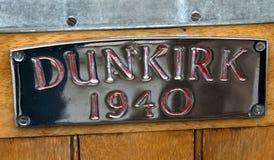 Une plaque de bateau de Dunkerque Photo libre de droits