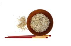 Une plaque de riz Images libres de droits