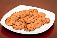 Une plaque des biscuits Image stock