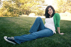 Une plus jeune fille Photo stock
