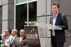 Une plus pleine Hollywood promenade de Simon de cérémonie d'étoile de renommée Images stock