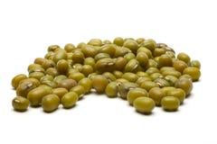 Une poignée de fèves de mung Images stock