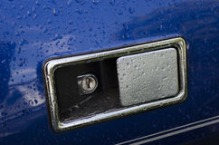 Une poignée de porte de véhicule à moteur Image libre de droits