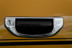Une poignée de portière de voiture de moteur Image libre de droits