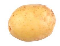 Une pomme de terre fraîche entière, d'isolement sur un fond blanc Pomme de terre délicieuse pour des régimes nutritifs végétarien photographie stock