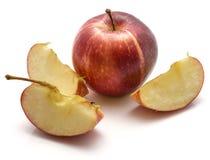 Une pomme et tranches de gala d'isolement sur le fond blanc image libre de droits