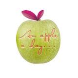 Une pomme par jour… Illustration de Vecteur