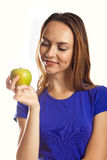 Une pomme par jour maintient le docteur parti Image libre de droits