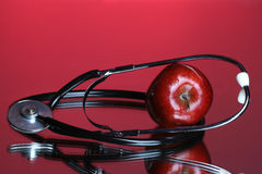 Une pomme par jour maintient le Dr. parti Photos stock