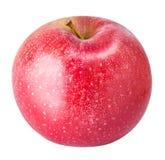 Une pomme rouge d'isolement sur le fond blanc Photos libres de droits
