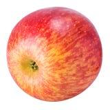 Une pomme rouge d'isolement sur le fond blanc Image libre de droits