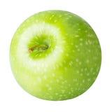 Une pomme verte d'isolement sur un fond blanc Image stock