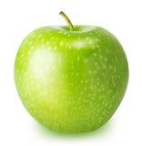 Une pomme verte d'isolement sur un fond blanc Images stock