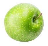 Une pomme verte d'isolement sur un fond blanc Photos stock