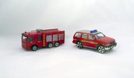 Une pompe à incendie et un véhicule de service des urgences Photos libres de droits