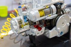 une pompe à piston pour l'équipement résistant photographie stock