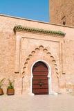 Une porte d'entrée de la Koutoubia-mosquée Photo stock