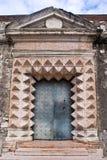 Une porte de château de Buonconsiglio, Trento Photos stock