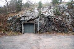 Une porte dedans à la montagne Images libres de droits
