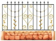 Une porte faite d'acier aigu illustration stock
