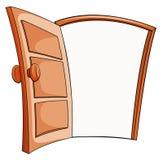 Une porte ouverte illustration stock
