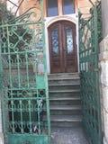 Une porte ouverte Photo stock