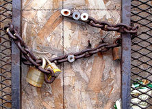 Une porte verrouillée Photographie stock libre de droits