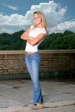 Une pose de jeune fille Photo stock