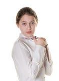Une pose de petite fille Photographie stock