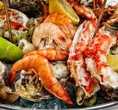 Une préparation de fruits de mer Photos libres de droits