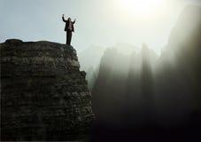Une première expérience de montagne images libres de droits