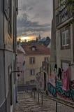 Une promenade à Lisbonne Image stock